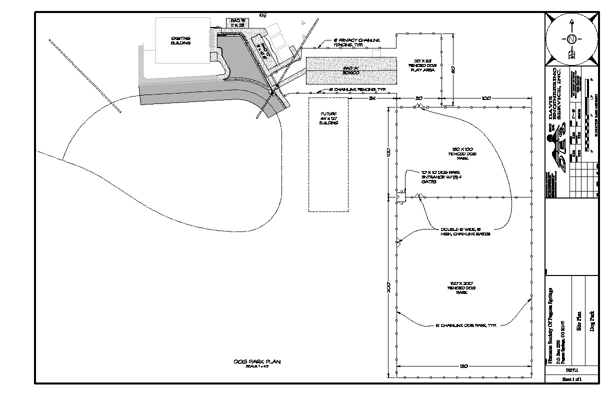 Humane society of pagosa springs for Dog kennel layouts
