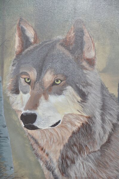 Wolf Painting by Christine Howey